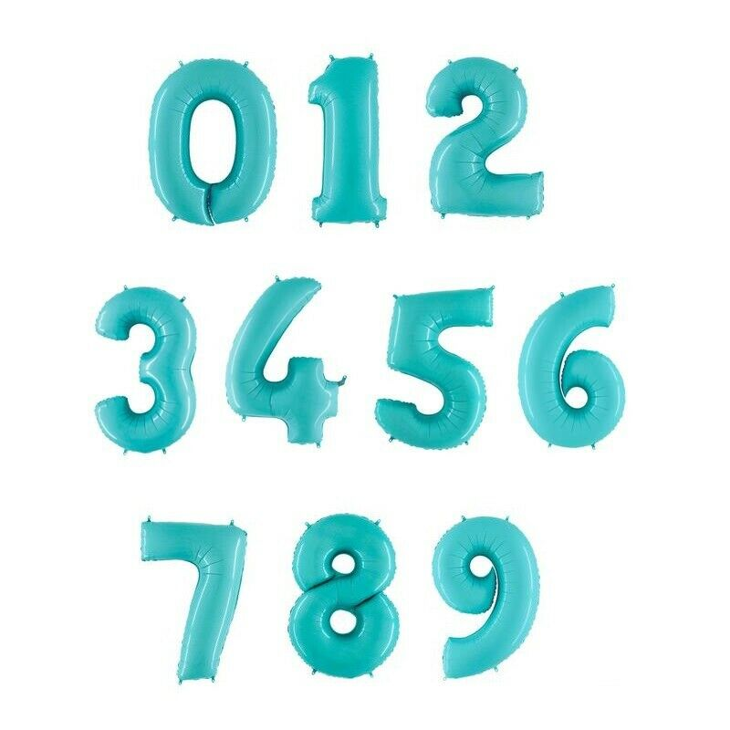Light Blue Foil Numbers