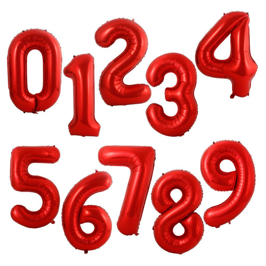 Red Foil Numbers