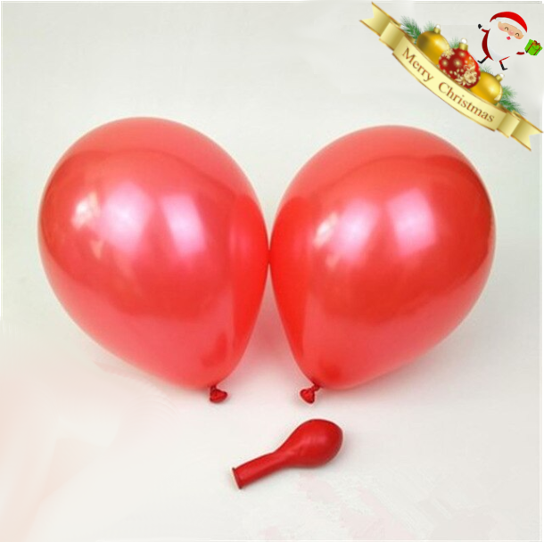 Pearl Red Christmas Balloons