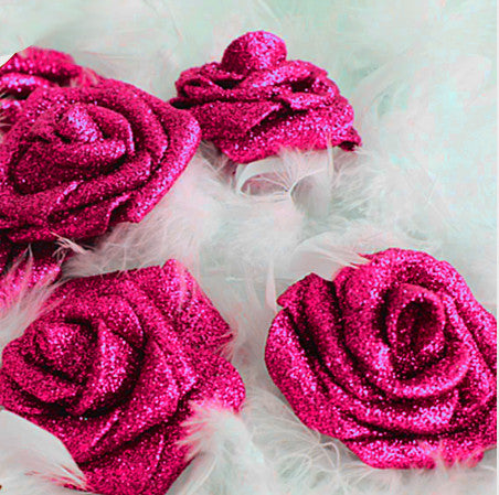 Hot Pink Glitter ROSES