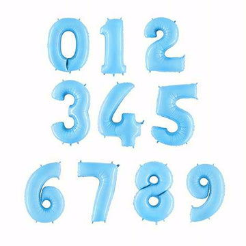 Baby Blue Foil Numbers