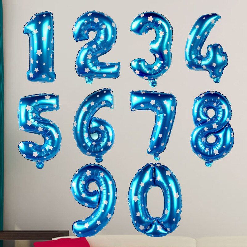 Printed Blue Foil Numbers
