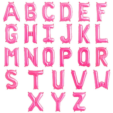 Light Pink 32 inch Foil Letters A-Z English Alphabet Letter Foil Balloons