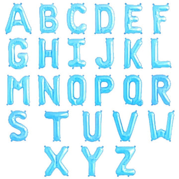 Light Blue 32 inch Foil Letters A-Z English Alphabet Letter Foil Balloons