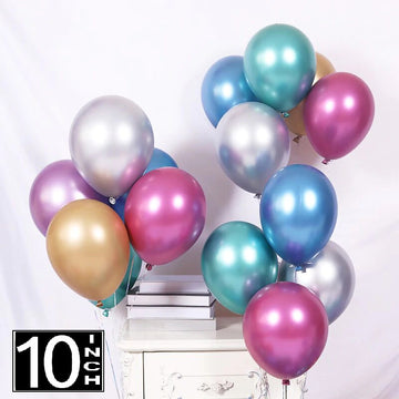 10 inch chrome balloons