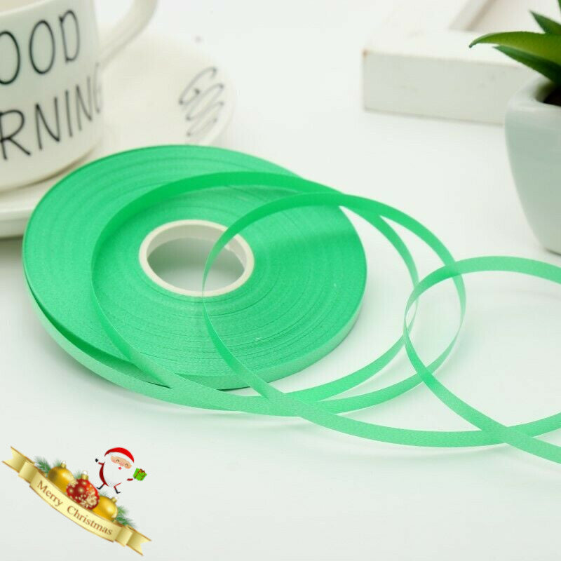 50 Meter RED & GREEN Plain Balloons Curling Ribbon 5mm Wide Polypropylene Ribbon For Christmas Xmas Decorations