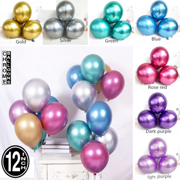12 inch mix chrome balloons