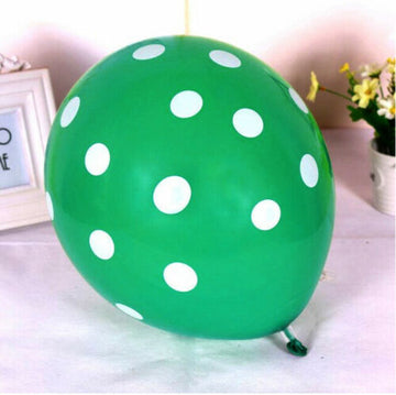 Green Polka Dot Printed 12