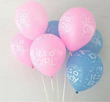Its A Boy Blue and Its A Girl Pink Balloons
