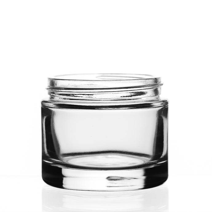 Quix Hunter Glass Jar available with Black Straight Sided Caps