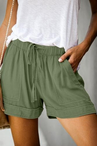 Sherry tencel shorts in light olive