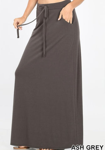 Favorite basics maxi skirt (Gray & Navy)