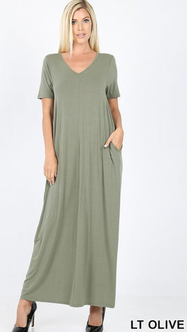 Favorite basics maxi pocket dress