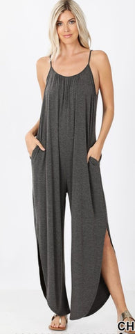FINAL CALL- Favorite basics jumpsuit in charcoal