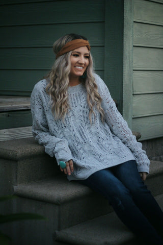Cozy state of mind sweater in grey