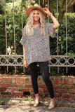Zero to sixty cheetah print blouse in taupe
