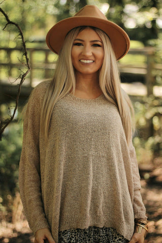 Castaway sweater in oatmeal
