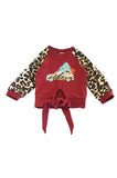 Maroon christmas tree raglan shirt CXSY-580485 sale