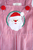 Red stripe santa applique baby jonjon romper 900077