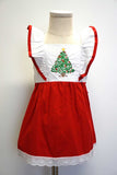 Red christmas tree flutter sleeve dress 900078