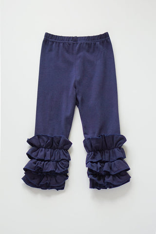 Solid Navy Ruffle Icing Pants for Girls/Kids CK-300066