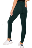 Walk it out leggings in hunter green