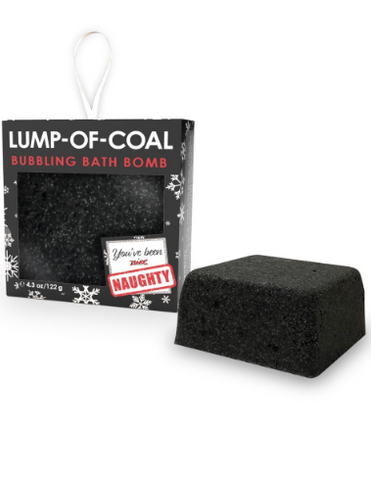 Lump of coal bath bomb