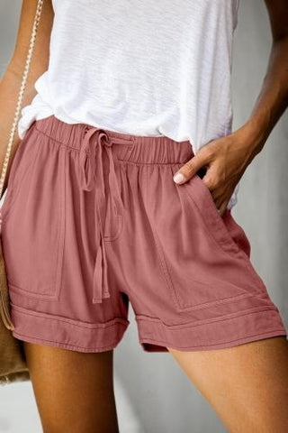 Sherry tencel shorts in dusty pink