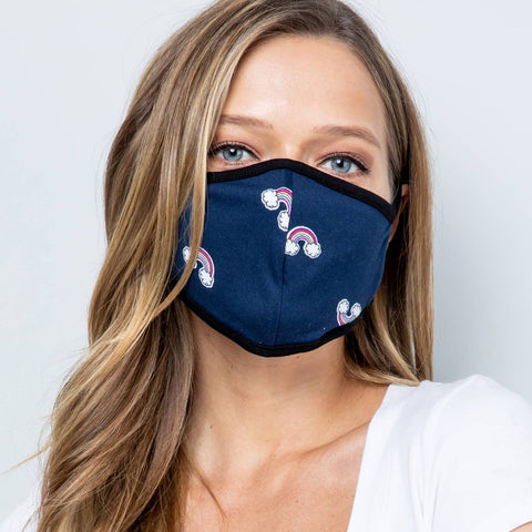 Acting Pro - Rainbow Fabric Face Mask