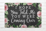 Door mat Doormat Welcome Mat Housewarming Gift I