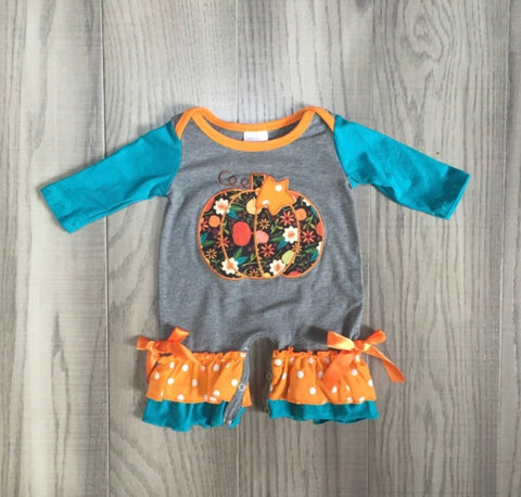 Fall Pumpkin Baby Romper