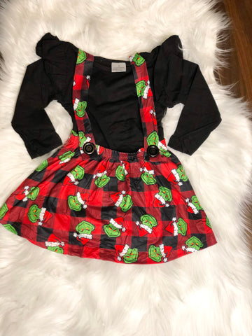 Plaid Grinch Dress
