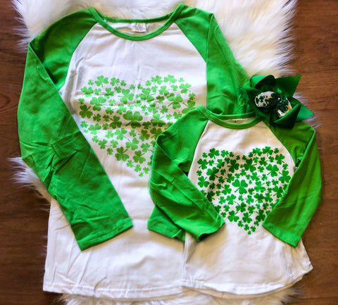 Mommy & Me Heart Clover Long Sleeve