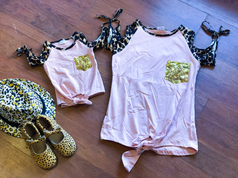Daughter Pink Cheetah top