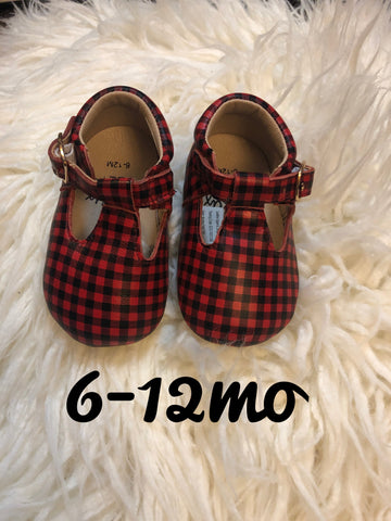 Buffalo Plaid T-Straps