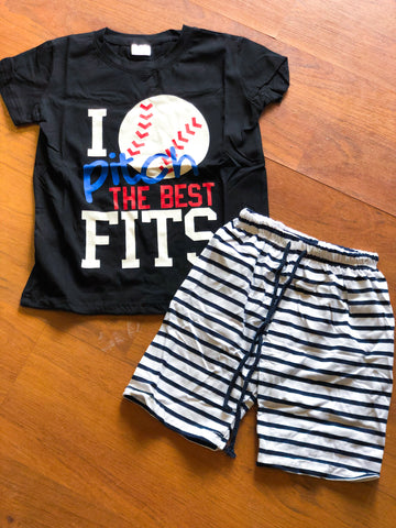 """I pitch the best fits"" tee"