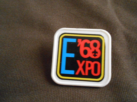 1968 Scout Expo neckerchief slide
