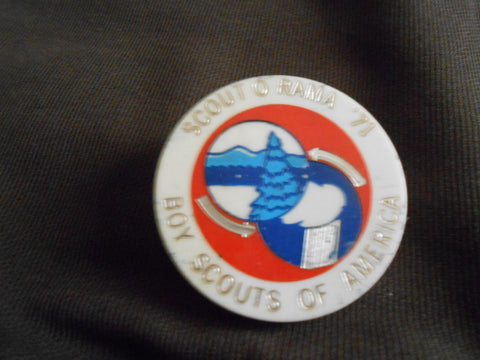 1971 Scout-O-Rama neckerchief slide