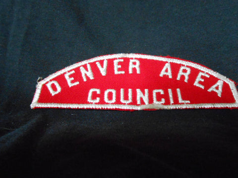 Denver Area Council r&w, worn