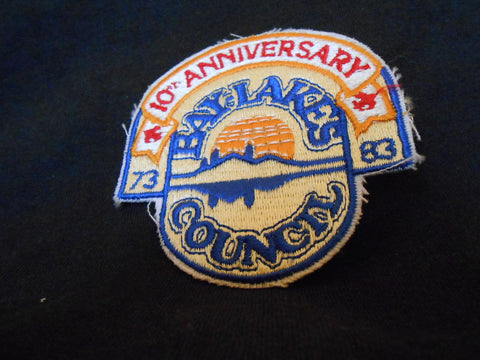 Bay Lakes 1983 10 anniv Council Patch