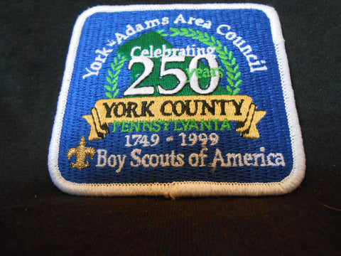 York-Adams Area Council York County's 250th anniversary council patch