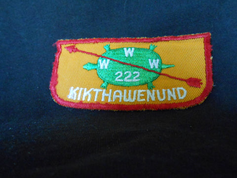 Kikthawenund  lodge 222, f2 flap