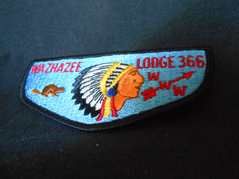 Wazhazee lodge 366, s2a flap