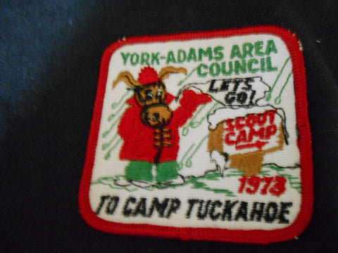 Camp Tuckahoe , Pedro, To Camp 1973 Pocket Patch