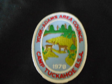 Camp Tuckahoe 1978 Pocket Patch