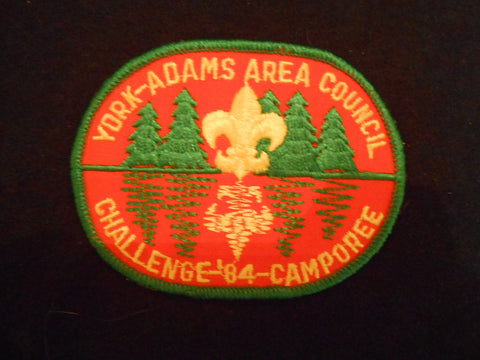 York-Adams Area Cnl Challenge '84 Camporee pocket patch