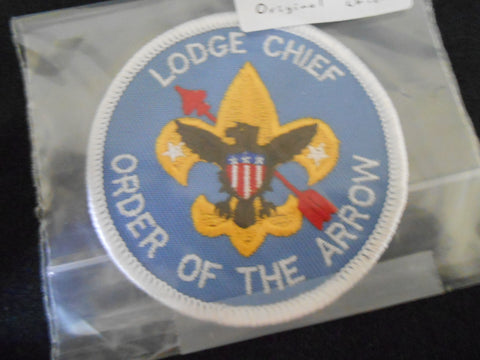 Lodge Chief Patch, real, original