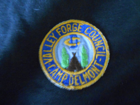 Camp Delmont Valley Forge Council, ce, twill center,Pocket Patch