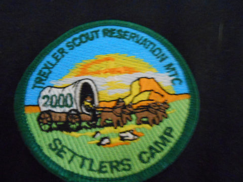 Trexler Scout Reservation MTC Settlers Camp 2000 Pocket Patch