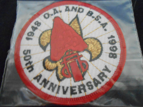 OA and BSA 50th Anniversary 1998 Pocket Patch